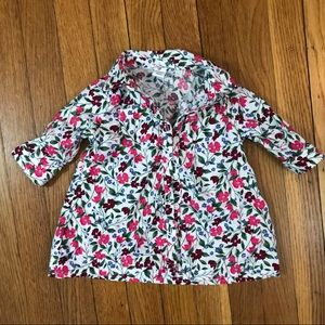 Old Navy Baby Girl's Floral button down flannel